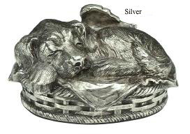 B1466 Winged Puppy - Silver